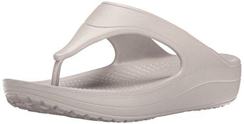 Crocs Wn-Platform Flip, Ciabatte Donna, Grigio (Platinum), 37/38 EU