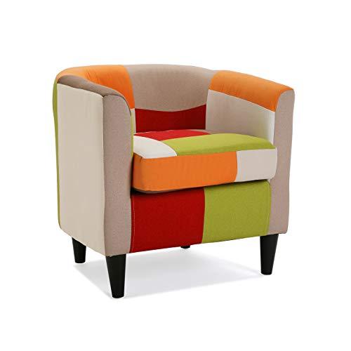Versa 19500458 Poltrona, Legno, Multicolore, 56x62x64