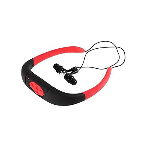 ZYCX123 Buceo Reproductor MP3 Impermeable del Deporte 8GB MP3 Piscina de Buceo Submarino Radio FM Auriculares (Rojo)