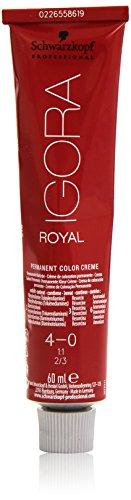 Schwarzkopf IGORA Royal Premium-Haarfarbe 4-0 mittelbraun, 1er Pack (1 x 60 g)