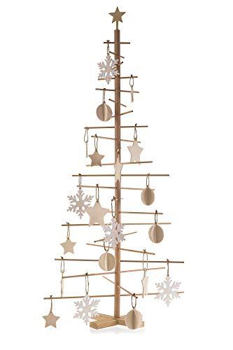 Papà Noel Albero di Natale in Legno 50 x 50 x 115 cm