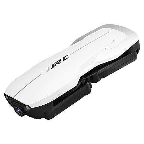 Xlq Piccolo Drone con Telecomando, 1080P ad Altezza Fissa WiFi Flusso di Trasmissione in Tempo Reale del Telecomando a Punto Fisso Drone Aereo Pieghevole,White