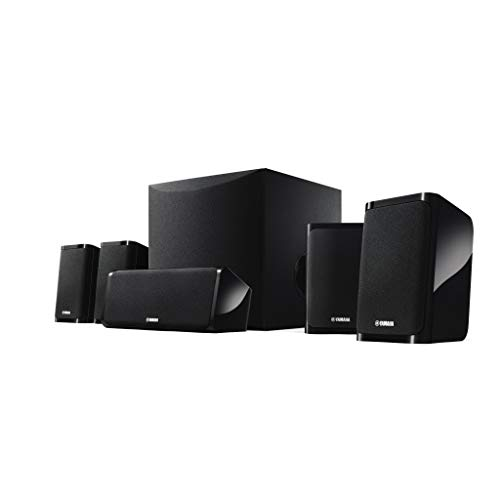 Yamaha NS-P41 Black 5.1 Channel Home Theatre Speaker Package (8 Inch Active Subwoofer)