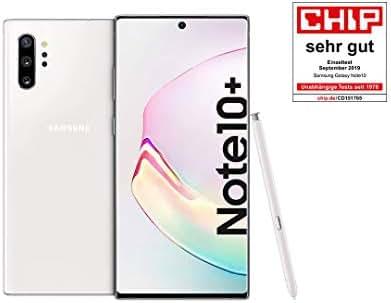 Samsung Galaxy Note 10+ Smartphone Bundle (17.2cm (6.8 Zoll) 256GB interner Speicher, 12GB RAM, Dual SIM, Android) Aura White inkl. 36 Monate Herstellergarantie [Exklusiv bei Amazon] Deutsche Version