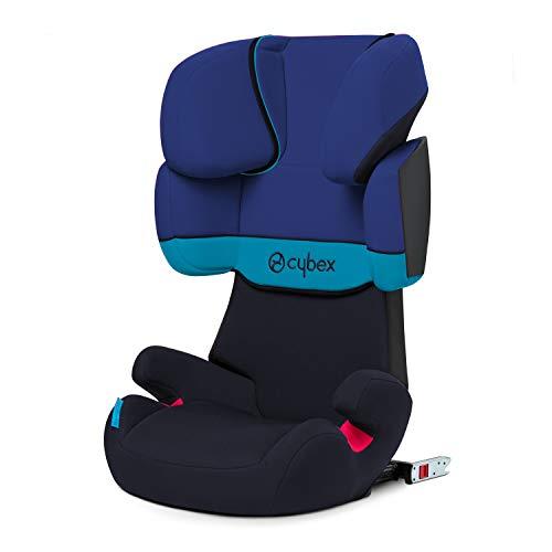 Cybex Silver Solution X-Fix - Seggiolino Auto per Bambini, Gruppo 2/3 (15-36 kg), da 3 Fino a 12 Anni Circa, Per Auto Con e Senza ISOFIX, Blu (Navy Blue/Blue Moon)