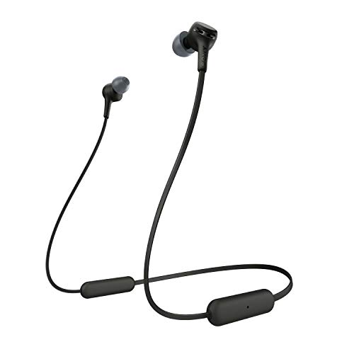 Sony WI-XB400 Wireless Bluetooth Extra Bass in-Ear Headphones with Mic, 15 Hours Battery Life, Quick Charge, Magnetic Earbuds, Tangle Free Cord and with 1 Year Warranty - Black