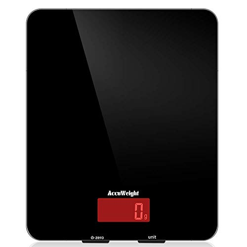 ACCUWEIGHT Bilancia da Cucina Digitale, Design in Vetro Temperato Facile da Pulire, Bilancia...