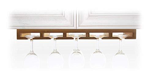Woodquail Supporto Bicchiere Vino, Portabicchieri, Porta Calici Vino da Vino per Cucina, Bar o...