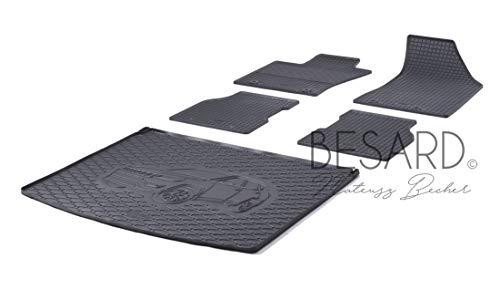Rigum RR814026RIG0TX577 - Set di tappetini in Gomma per Bagagliaio e vaschetta per Bagagliaio