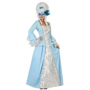 ATOSA disfraz cortesana azul mujer adulto M