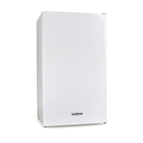 Klarstein 90L1-WH • Nevera • Frigorífico doméstico •Capacidad: 90 Litros • 2 x Baldas extraíbles • Cajón • Congelador independiente • 3 Compartimentos en la puerta • Temperatura regulable • Blanco