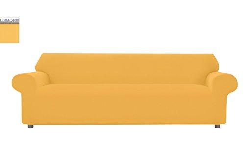 Copridivano Genius Tinta Unita, Per Divano XL 4 Posti, Colore Senape 1008