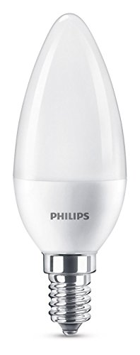 Philips Lighting Lampadina LED Oliva, Attacco E14, 7 W Equivalenti a 60 W, 2700 K Luce Bianca Calda...