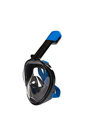 Lidaway Immersione Mask Snorkel Set facciale Maschera di respirazione boccaglio con Anti-Fog e Anti-perdite Tecnologia Adatta per Tutti Nuotare i neofiti e Gli Amanti delle Immersioni (Nero, S/M)