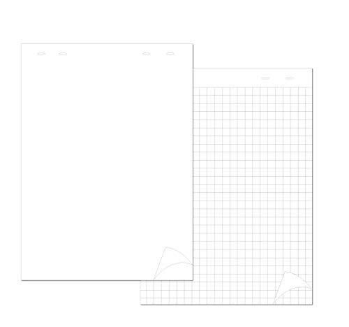 4Company Blocco per ricambio Blocco Lavagna 20 fogli quadro foratura universale, conf. 5 pezzi