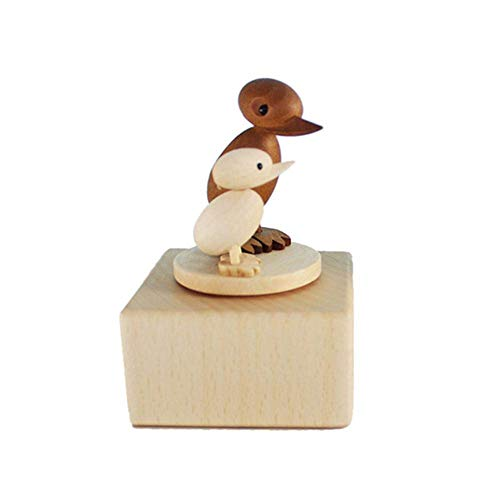 FOONEE Handmade Wooden Music Box, Mini Hand Carving Animal Musical Box Crafts for Children's Day/Kids Birthday, Best Gift for Children/Boys/Girls, Wood Color Duck - Cannon