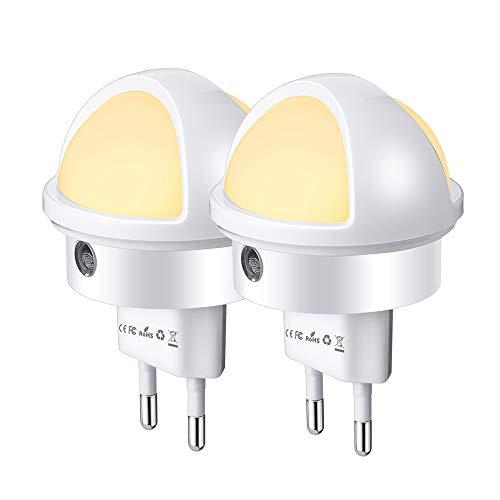 Luce Notturna LED, SOLMORE Lampada Notturna LED Automatich Lampade da Presa con Sensore di Luce...