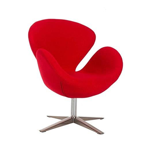 WHYNOTHOME WH572.DSW30TWRO SW 30, Poltrona di design, girevole, base e colonna cromata, rivestimento in tessuto cachemire, colore rosso, 88 x 75 x 60 cm