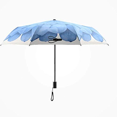 Mjd Ombrello Super Sun Protection, Sunny, Rainy Days, Dual-Use, Ombrello Triplo, Telaio Antivento...