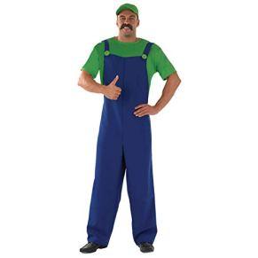 Plumbers - Disfraz de súper Mario Bros para hombre, talla M (48-50) (FS2280-M)