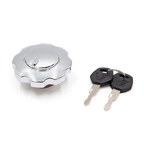 Sourcingmap Cromado Cerradura Tapón de Depósito de Gasolina para Moto Cg125 39mm