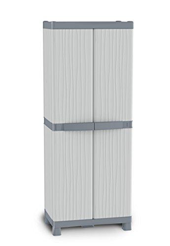 Terry Base 2700 UW Armadio Alto in Plastica Tuttopiani, Grigio/Tortora, 70 x 43,8 x 181,8 cm