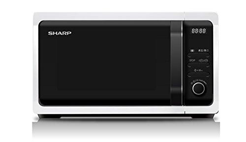 Sharp Home Appliances R-243W Encimera Solo – Microondas (Encimera, Solo microondas, 20 L, 800 W, Botones, Giratorio, Color blanco)