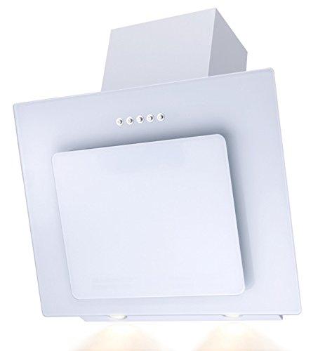 Cappa aspirante SH60-WH, aspirazione perimetrale, 60cm, aspiratore inclinato, colore: bianco