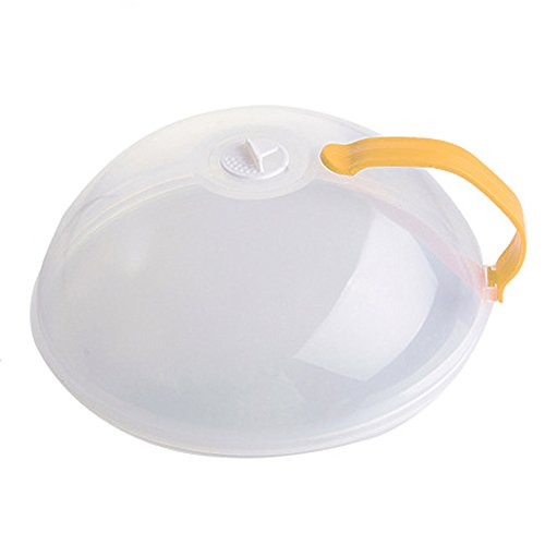 MElnN, Copertura per Piatto da microonde, in plastica, Multifunzionale, Anti-Schizzo, con bocchette...