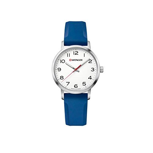 Wenger Damen Analog Quarz Uhr mit Silikon Armband 01.1621.107