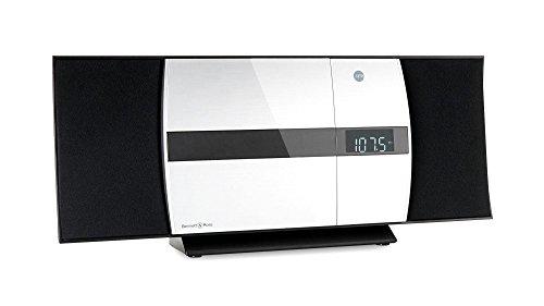 Bennett & Ross Ålesund Vertikal Stereoanlage - HiFi Microanlage mit CD-Player, MP3, UKW-Radio, USB und Bluetooth mit NFC - Standaufstellung oder Wandmontage - Musikanlage mit Fernbedienung - Silber