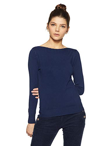 Qube By Fort Collins Women's Sweater (CH103_Blue_M)