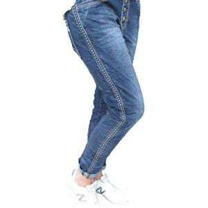 Karostar Stretch Baggy Boyfriend Jeans Nieten Denim