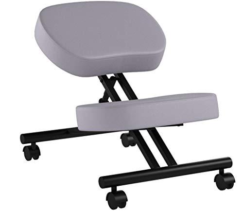 Poltrona ergonomica, sgabello regolabile per casa e ufficio, migliora la postura con una seduta angolata, cuscini spessi e confortevoli