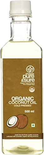 Pure and Sure Organic Coconut Oil, 500ml