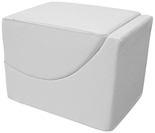 13Casa - Cleo A2 - Pouff chaise longue trasformabile. Dim: 50x70x50 h cm. Col: Bianco. Mat: Ecopelle.