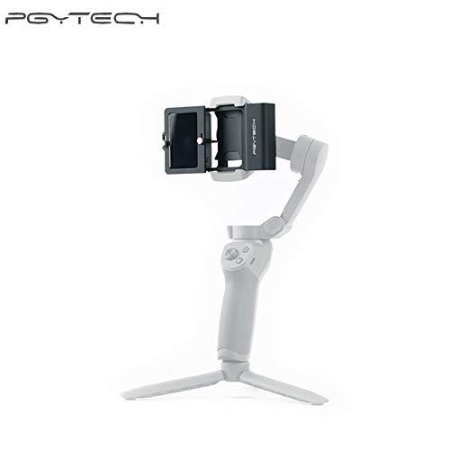 Hensych PGYTECH - Adattatore in Lega di Alluminio per Action Camera + per Giunto cardanico, Staffa di Supporto stabilizzatore per OSMO Action, per GoPro 3/3+/4/5/6/7, XIAO YI 4K, OSMO Mobile 3/2 ECC.