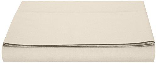 AmazonBasics, Lenzuolo in microfibra, 280 x 320 + 10 cm - Beige