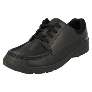 Clarks Boys Bootleg School Shoes Loris Step – Black Leather – UK Size 8.5H – EU Size 42.5 – US Size 9XW 31ybtxCmiOL