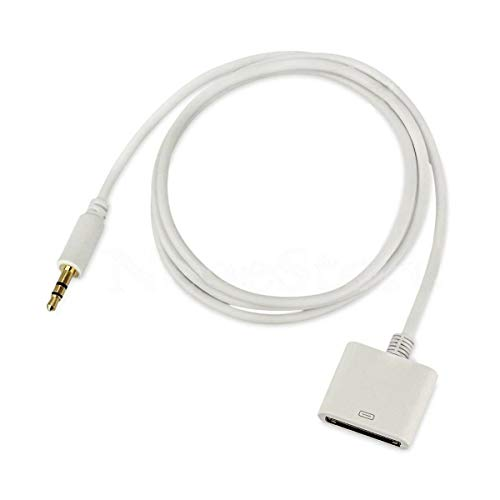 Leoie Adapter Cable Converter,3.5mm AUX Audio Jack Cable to 30 Pin Adaptor Converter for iPod iPhone 4s Dock White