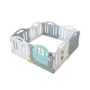 LIUFS-Valla Juego Valla De Seguridad Valla Natural Casa Tipo De Expansión Valla Infantil Seguridad para Interiores Y Exteriores Valla De Juegos Combinación Libre (Color : Blue-Gray, Size : 8p)