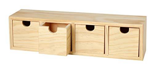 VBS Schubladenbox mit 4 Schüben