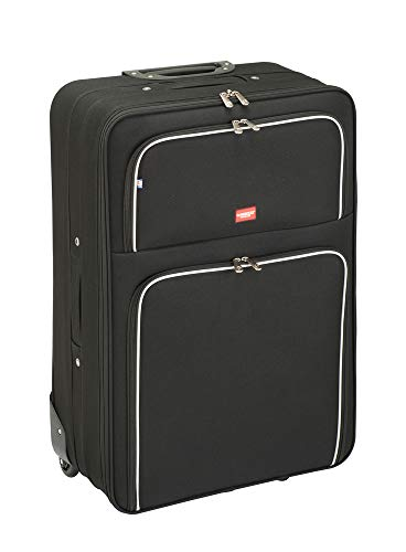 Princess Traveller Barcelona Soft Luggage Trolley, 75 cm, 95 liters, Nero (Black)