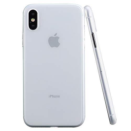 CELLBEE Premium Slim Case Kompatibel mit iPhone X Hülle Milky Transparent, Extrem Dünne...