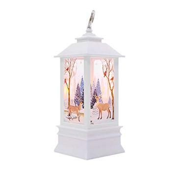 Rameng Pere Noel de Lumière Lanterne Noel Lumineux Bougie A LED Décorations de Noël