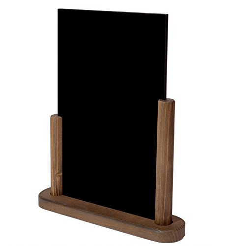 Lavagnetta/espositore di menù da tavolo in legno, formato A4, scrivibile con gesso su entrambi i...
