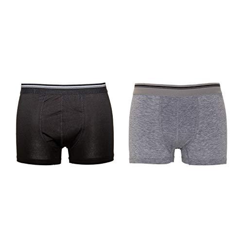 444dba5283063e 10 Pack Boxershorts Herren Boxer Shorts 1097 Farbe Schwarz und Grau  Unterhose Grösse S