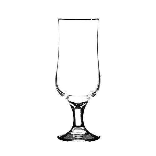 Ravenhead, bicchiere da birra con stelo, della collezione Tulip, in vetro trasparente, 40clcl, confezione da 4 bicchieri