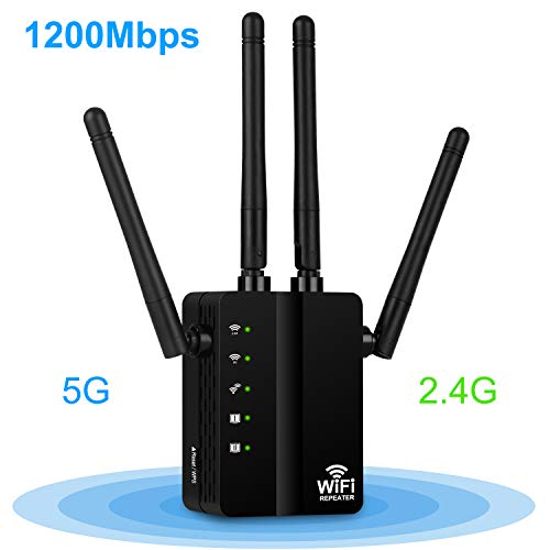 Aigital 1200Mbps Ripetitore WiFi,Wireless WiFi Extender e Access Point,Segnale Booster Dual...