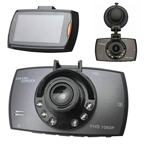 "Manya Impex Presents HD 1080P Car Dash Camera with 2.7"" LCD Screen Video Recorder, 170 Degree Wide Angle Lens, G-Sensor, Motion Detector, Loop Recorder with Upto 32 GB Card Support"